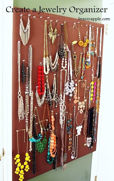 Diy Jewelry Organizer Cork Board Makeover