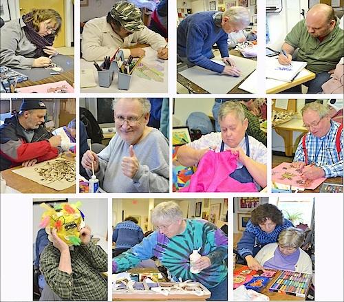 Line Club Artists in their studio Augusta Maine