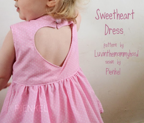 Sweetheart Dress - Pattern by Luvinthemommyhood, sewn by Pienkel