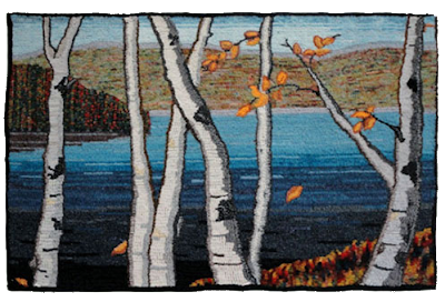 Falling Birch Leaves  by Brenda Ticehurst