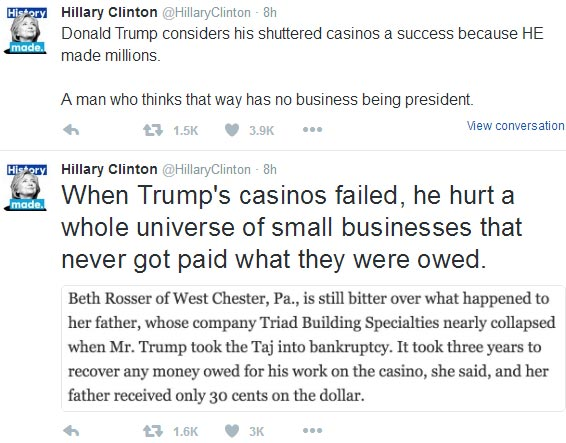 Hillary Clinton goes off on Donald Trump on Twitter, again!