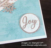Closeup of the sentiment from Stampin'UP!'s Snow is Glistening Stamp Set