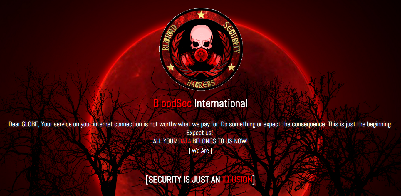 Globe Telecom Websites Hacked by BloodSec | MavTech