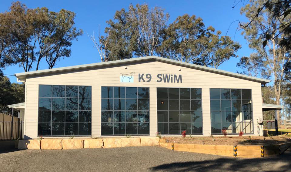 New K9 Swim Canine HydrotherapyCentre building housing a pool in Richmond