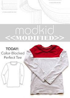 Modkid Perfect Tee with Color Blocking