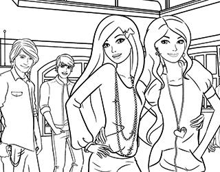 Зачарованный мир: Раскраски Барби и ее друзья
