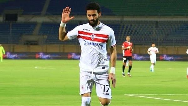توقيف باسم مرسي مهاجم الزمالك بعد احداث مباراة الزمالك اليوم وغرامة 300 ألف جنيه
