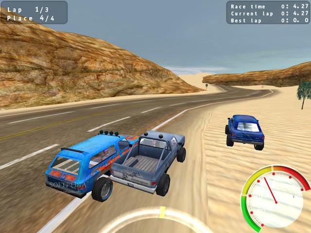تحميل لعبة سباق السيارات الرائعه Pickup Racing Madness للكمبيوتر بحجم صغير 3.png