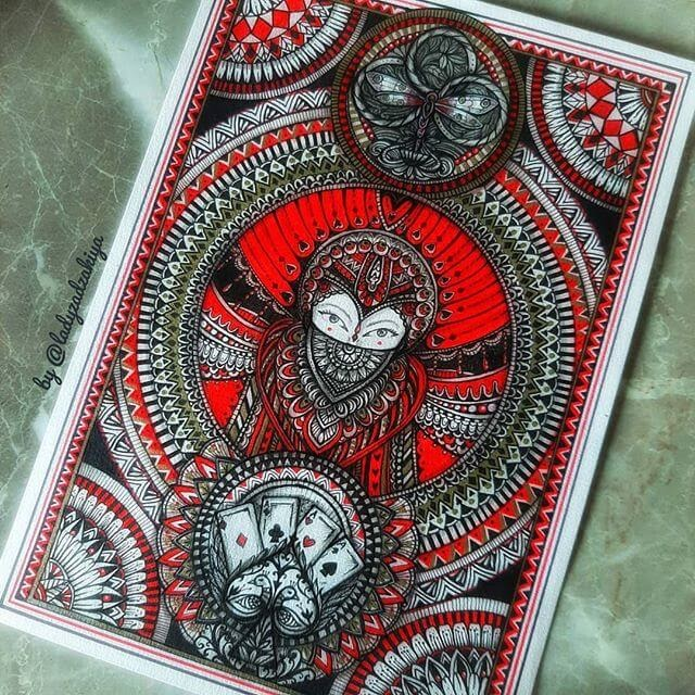 12-The four suits-Anugrah-Momof-Mandala-Art-www-designstack-co