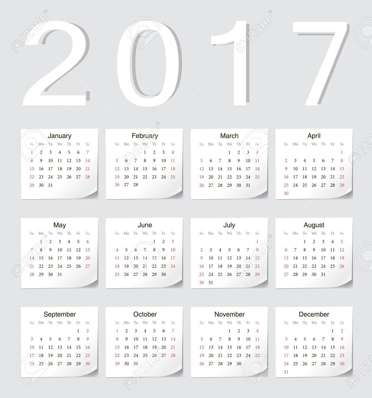 2017 european calendar