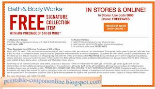 Free Printable Bath And Body Works Coupons