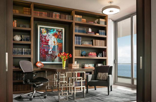 Smiros Miami Beach Penthouse 7 Study