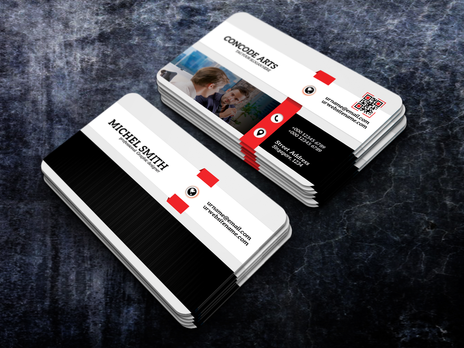 Free download professional business card vol 94zip professional free download professional business cards this is a business card this template download contains 300 dpi print ready cmyk layerd psd files flashek