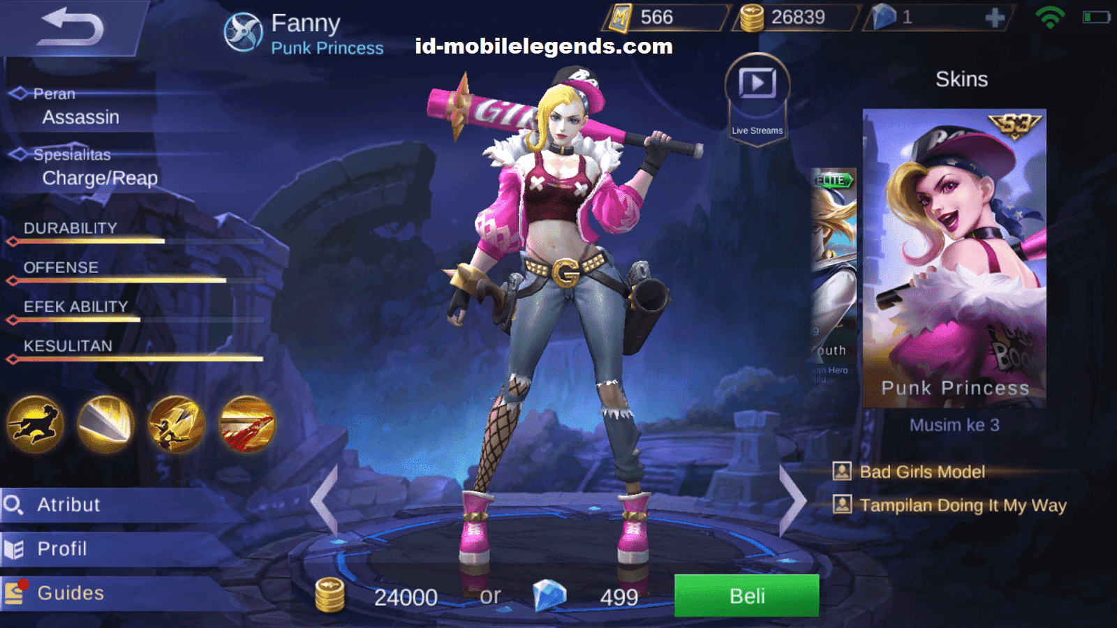 10 Hero Perempuan Mobile Legends Tercantik PINK COLOUR