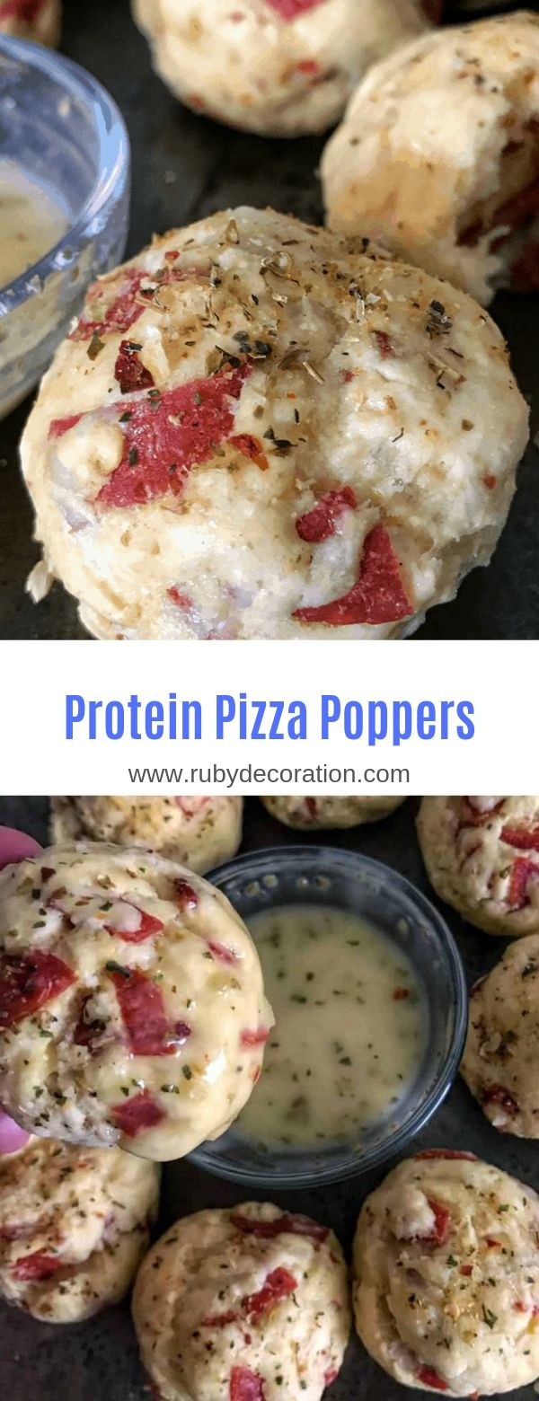 Protein Pizza Poppers