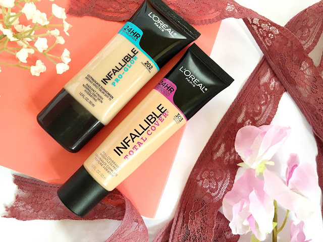 L'Oreal Pro-Glow Foundation and Total Cover Foundation Combination