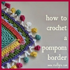BORDE POMPON A CROCHET