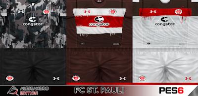PES 6 Kits ST. Pauli 2017/2018 by Alessandro Edition
