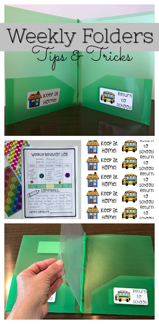 Tips and Tricks for getting your Take Home Folders set up, labeled, organized, and prepared for Back to School