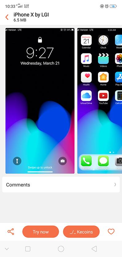 Oppo Theme Oppo Iphone X F7 Theme