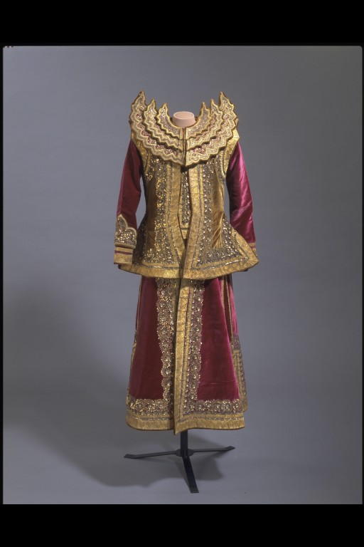 Burma military court costume, late 19th century