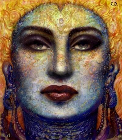 Hindu Goddess chandra image