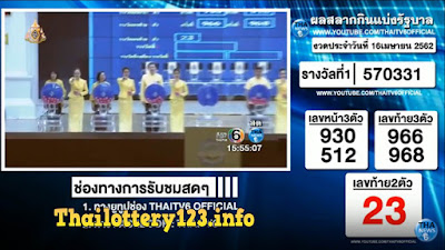 Thailand Lottery live results 16 April 2019 Saudi Arabia on TV