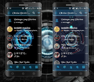 Droid Chat! v13.2.13 Futuristic (BBM MOD Base 3.1.0.13 APK) Update Terbaru 2016 Gratis