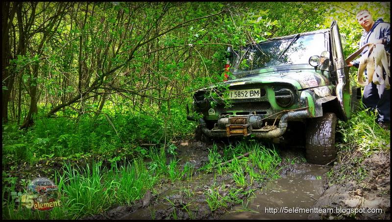 УАЗ по грязи