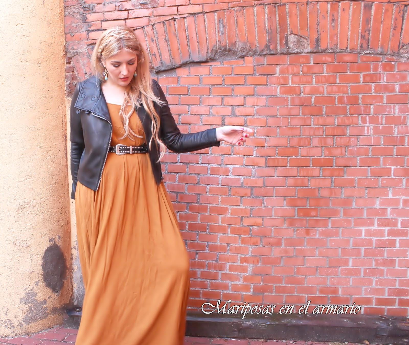 Mariposas en el armario: Vestido largo de Mango con cazadora ...