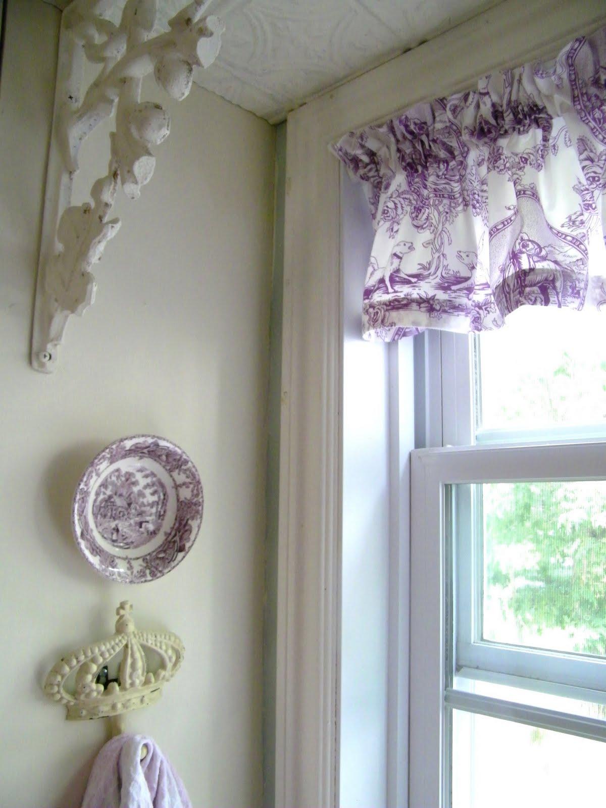 Maison Decor Purple Toile Valance For The Kitchen