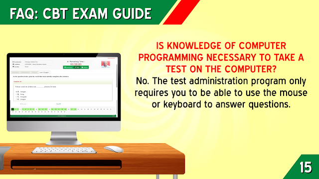 IS KNOWLEDGE OF COMPUTER PROGRAMMING NECESSARY TO TAKE A TEST ON THE COMPUTER?