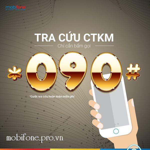 Hướng dẫn tra cứu khuyến mãi Mobifone với cú pháp *090#