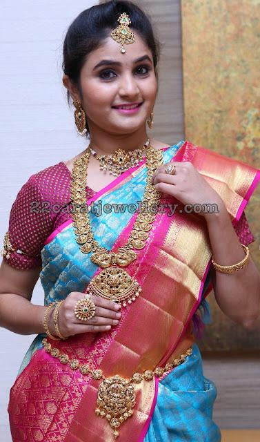 Basanthi in Nalshi Mango Mala