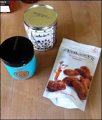 Sachertorte in der Dose, Caramel Fizz und Maroccan Spiced Almonds