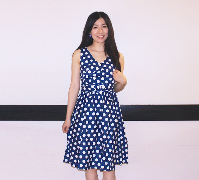 dolly and dotty blog review, dolly and dotty review shop, dolly and dotty shop uk review, dolly dotty shop dress review, polka dot dress blue review, vintage dress uk shop review,
