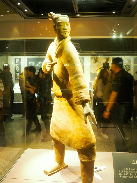 Warrior figurine from the Terracotta Army, Xian, China