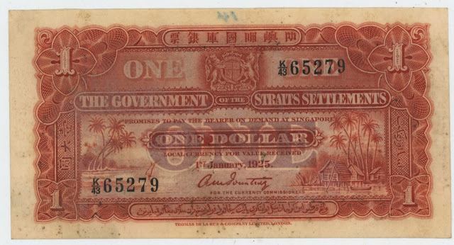 Straits Dollar banknote Straits Settlements paper money notes