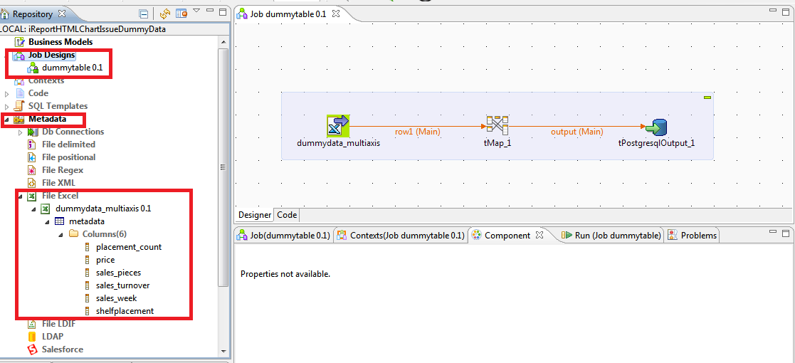 Fundamentals of DWH and Pentaho, Talend ETL : Create a table