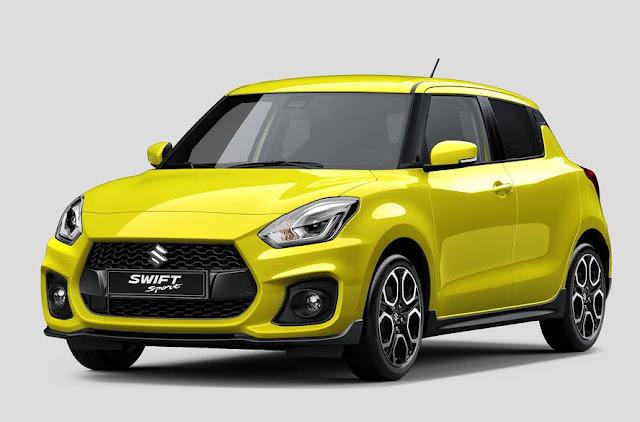 Suzuki Swift Sport is seen before the Frankfurt Motor Show