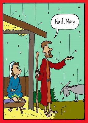 Hilarious Hail Mary Joseph Cartoon Picture
