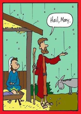 Hilarious Hail Mary Joseph Cartoon Picture