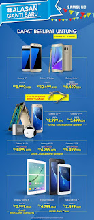 Samsung Galaxy S, Note, J, A dan Tab Series Promo Akhir Tahun 2016