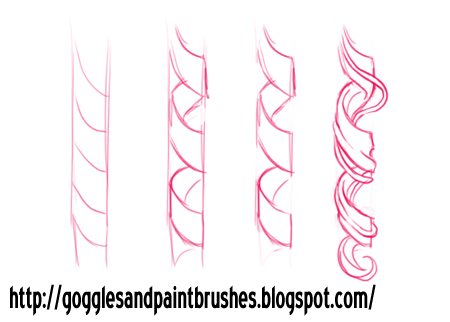 how to draw ringlet curls