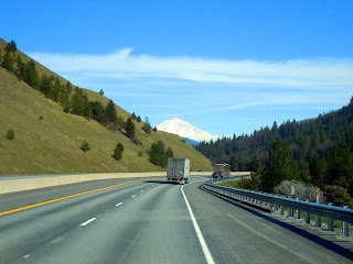 View of Mount Shasta from I-5