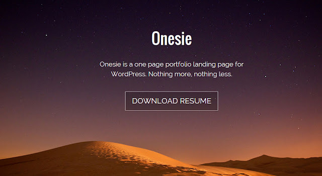 Onesie - One Page Responsive Landing Page