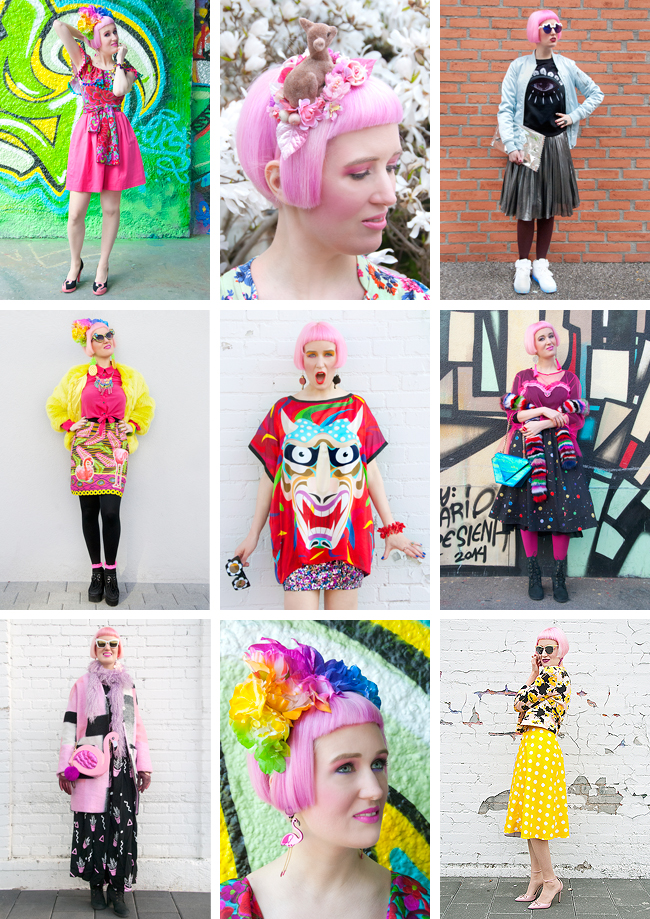 fashion blogger, street style, pink hair
