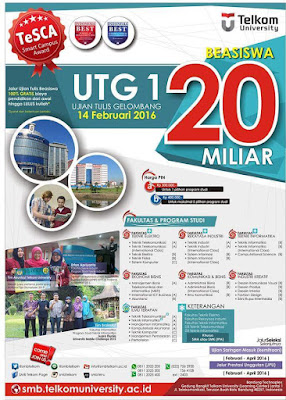 Beasiswa S1 Telkom University Senilai 20 Milyar (Beasiswa Full)