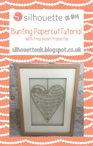 Bunting Typography Papercut Tutorial with Free Silhouette Template by Nadine Muir for Silhouette UK Blog