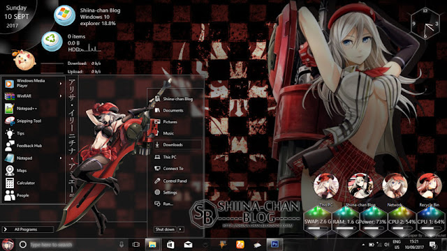 Windows 10 Ver. 1803 Theme God Eater by Enji Riz